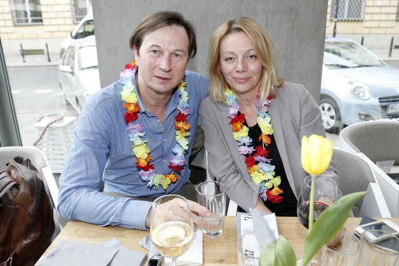 Piotr Cyrwus z żoną, Mają Berełkowską /Podlewski /AKPA