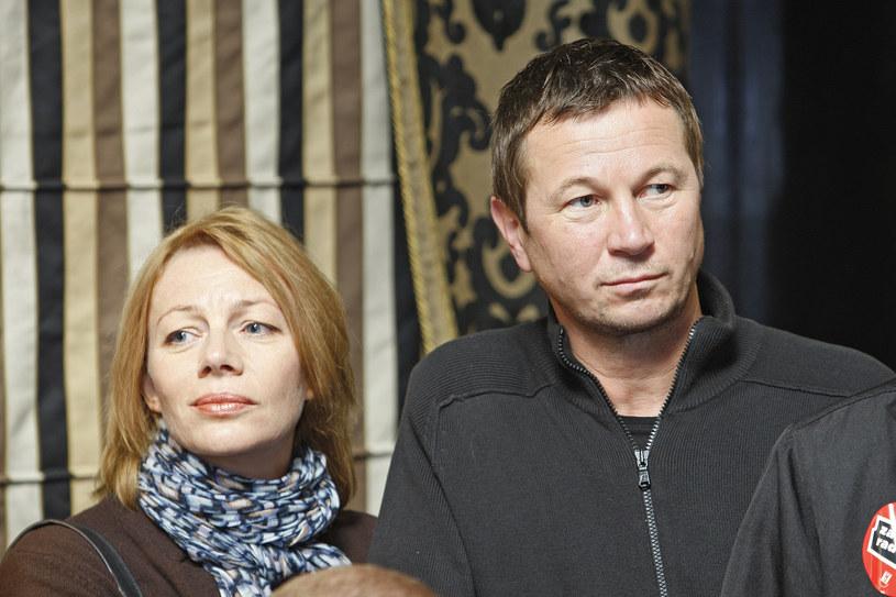 Piotr Cyrwus z żoną /Baranowski /AKPA