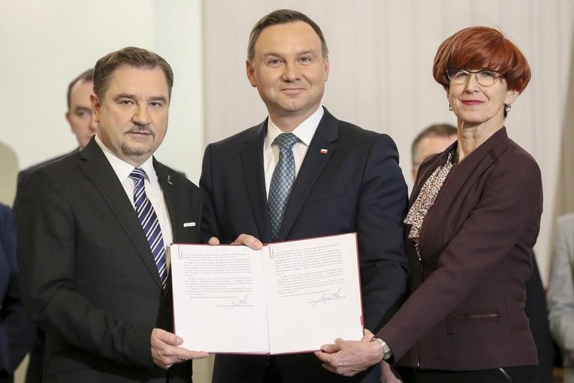 Piotr Duda, Andrzej Duda, Elżbieta Rafalska /Andrzej Iwańczuk /Reporter