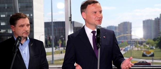 Piotr Duda i Andrzej Duda /Andrzej Grygiel /PAP