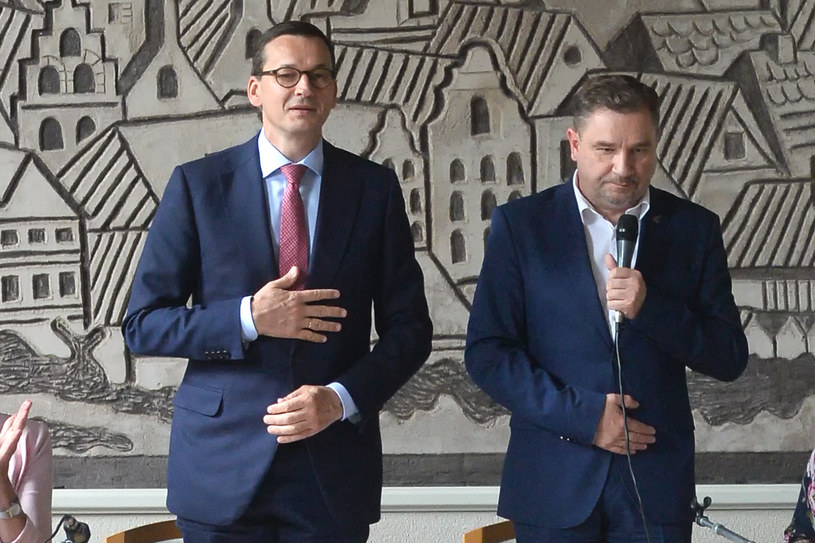 Piotr Duda i Mateusz Morawiecki /Lukasz Dejnarowicz /Agencja FORUM