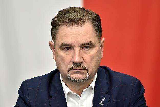 Piotr Duda, lider Solidarności. Fot. Łukasz Dejnarowicz /FORUM
