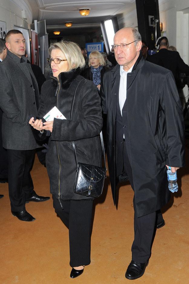 Piotr Fronczewski z żoną, 2011 rok /Radosław Nawrocki /Agencja FORUM