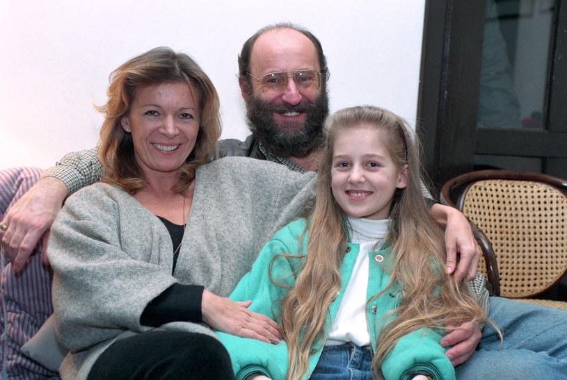 Piotr Fronczewski z żoną Ewą i córką /Andrzej Bogacz /Agencja FORUM