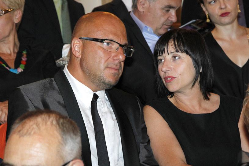Piotr Gąsowski i Hanna Śleszyńska byli parą przez kilkanaście lat / Engelbrecht /AKPA