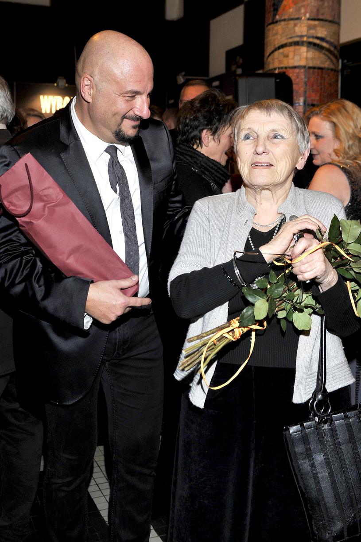 Piotr Gąsowski z mamą / Mieszko Piętka /AKPA