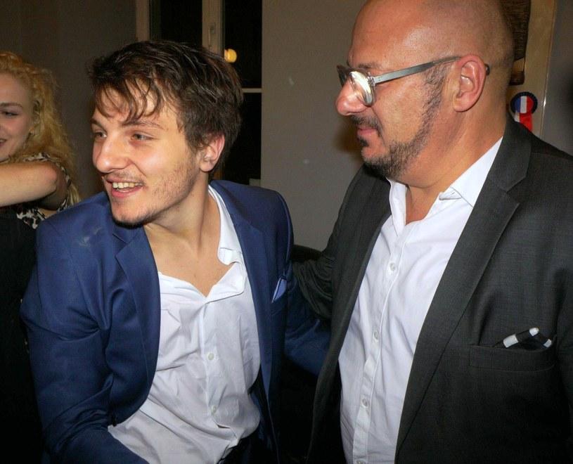 Piotr Gąsowski z synem Jakubem /Tricolors /East News