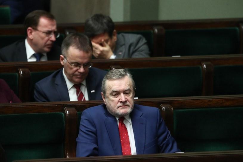 Piotr Gliński (w pierwszym rzędzie) /Andrzej Iwańczuk /Reporter