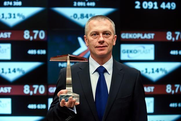 Piotr Górowski, prezes Gekoplastu, w czasie debiutu na NewConnect /PAP