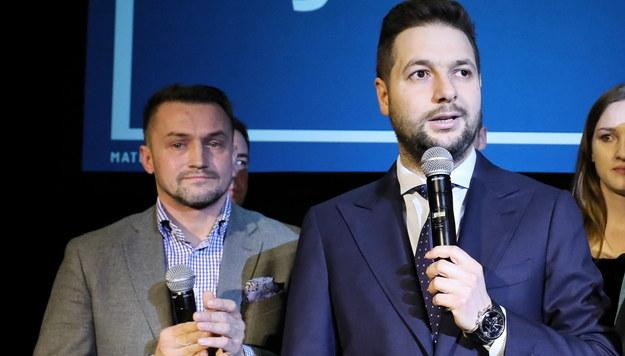 Piotr Guział i Patryk Jaki /Paweł Supernak /PAP