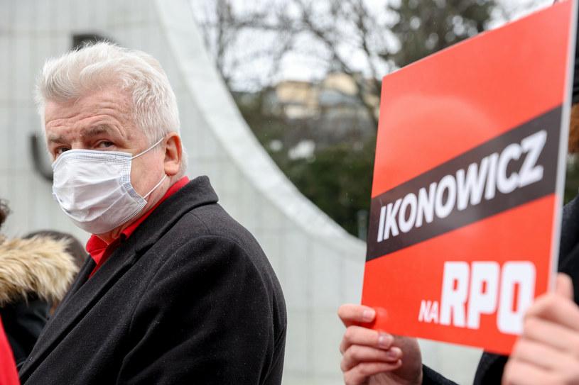 Piotr Ikonowicz /Andrzej Iwańczuk /Reporter