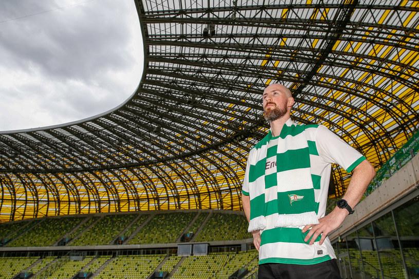 Piotr, kibic Lechii Gdańsk od 10 lat nie opuścił żadnego meczu /GRZEGORZ RADTKE / 058sport.pl / NEWSPIX.PL /Newspix