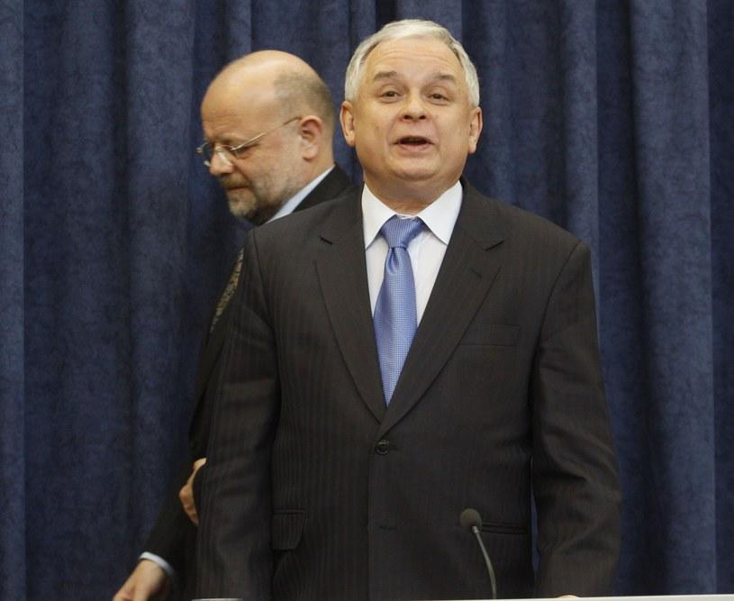 Piotr Kownacki i Lech Kaczyński /Witold Rozbicki/REPORTER /East News
