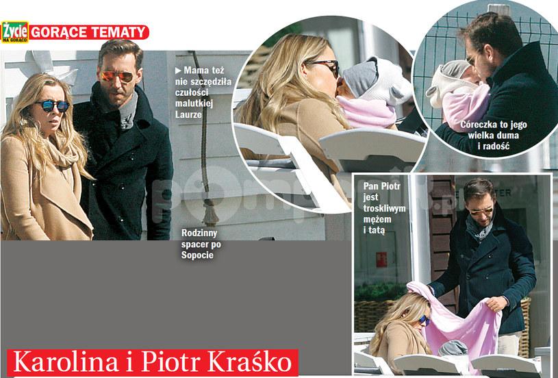 Piotr Kraśko na wakacjach z żoną i córką /- /Życie na gorąco