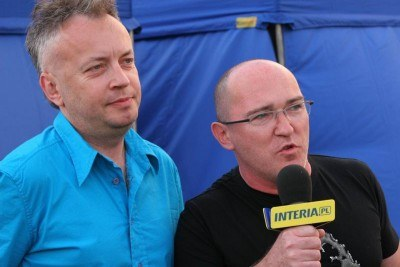 Piotr Kubiaczyk i Andrzej Krzywy (De Mono) /INTERIA.PL