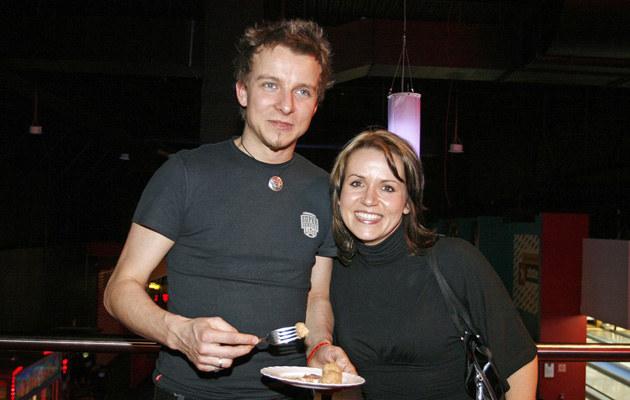 Piotr Kupicha z żoną, fot.Jarosław Wojtalewicz  /AKPA