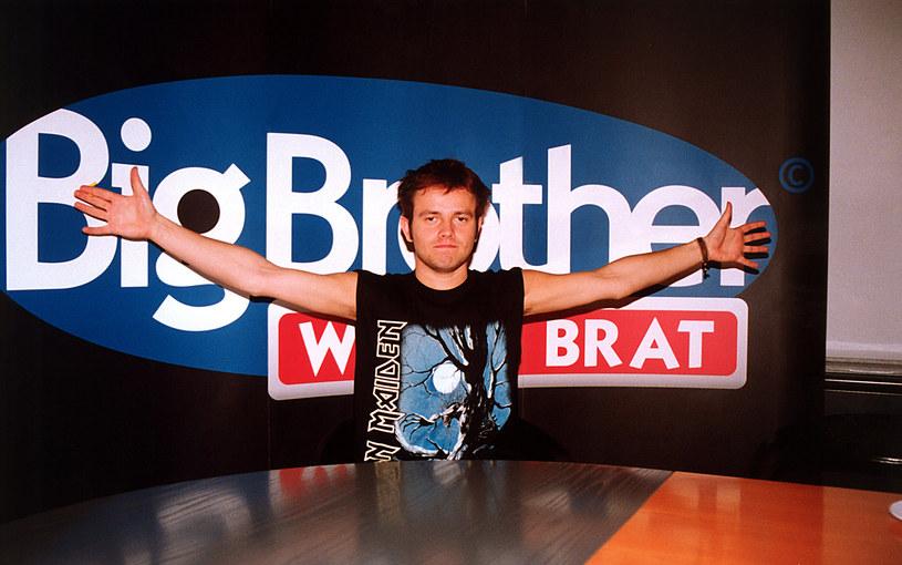 "Piotr Lato w programie ""Big Brother"" (2001) /AKPA"