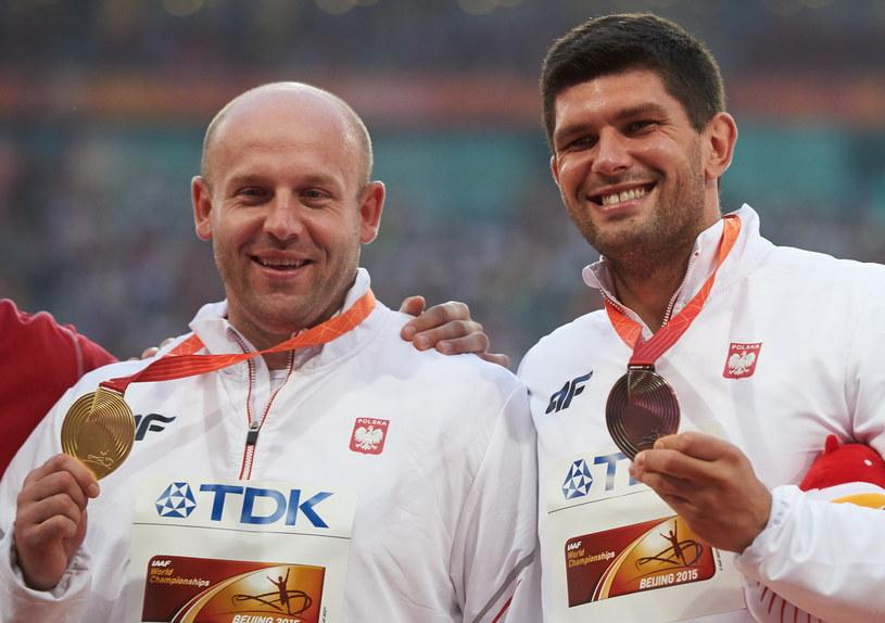Piotr Małachowski i Robert Urbanek /Fot. Adam Warżawa /PAP