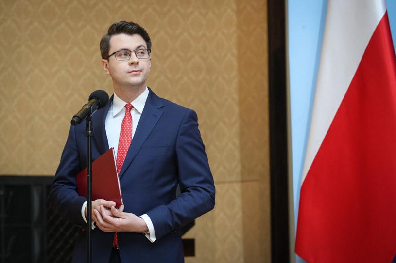 Piotr Müller, rzecznik rządu /Andrzej Iwańczuk /Reporter