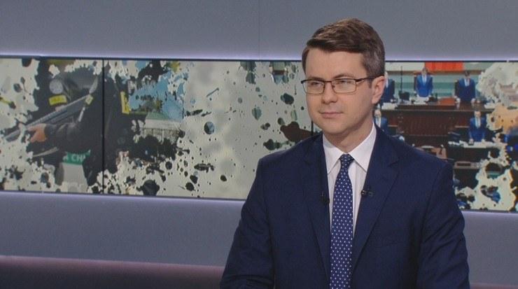 "Piotr Müller w ""Graffiti"" Polsat News /Polsat News"