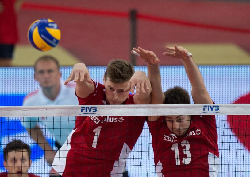 Piotr Nowakowski (z lewej) i Michał Kubiak w meczu z USA /Grzegorz Michałowski /PAP