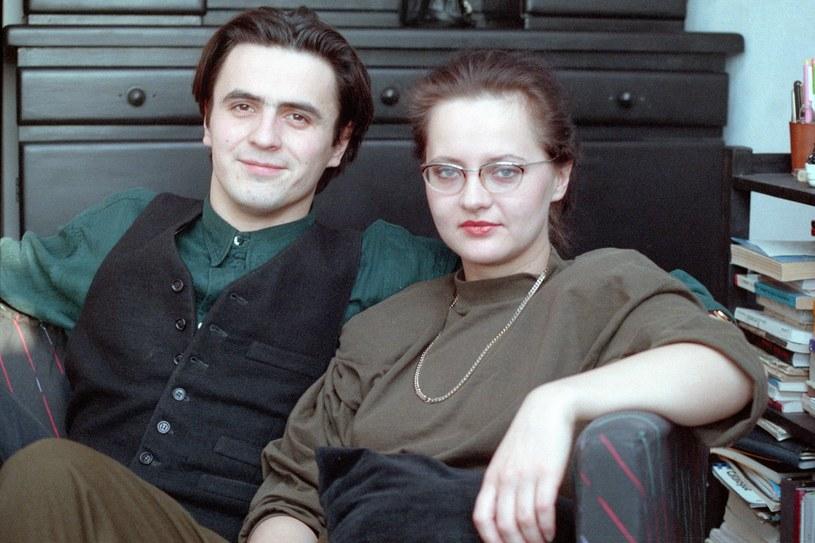 Piotr Polk i Hanna Wrycza-Polk  w 1991 roku (jeszcze jako małżeństwo) /Ireneusz Sobieszczuk /Agencja FORUM