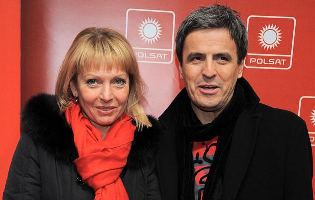 Piotr Polk z byłą żoną, fot. Andras Szilagyi  /MWMedia