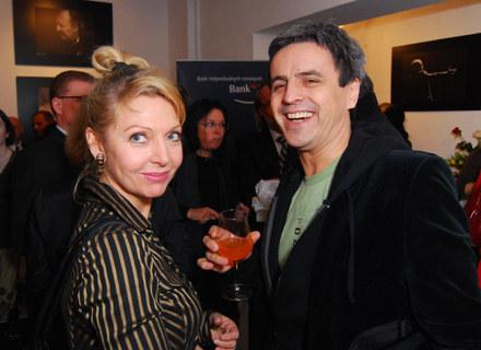 Piotr Polk z żoną Magdą Wołłejką /MWMedia
