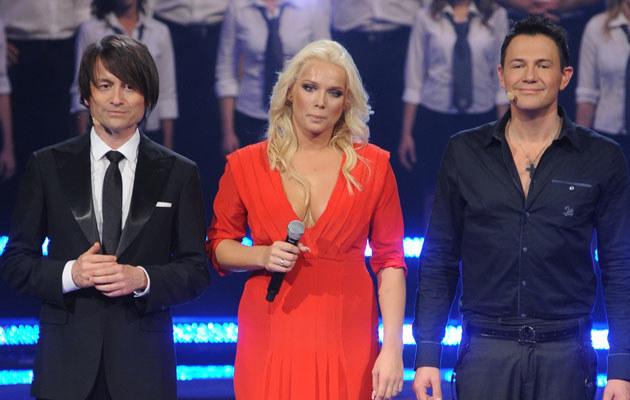 Piotr Rubik, Joanna Liszowska i Krzysztof Ibisz, fot. Andras Szilagyi  /MWMedia