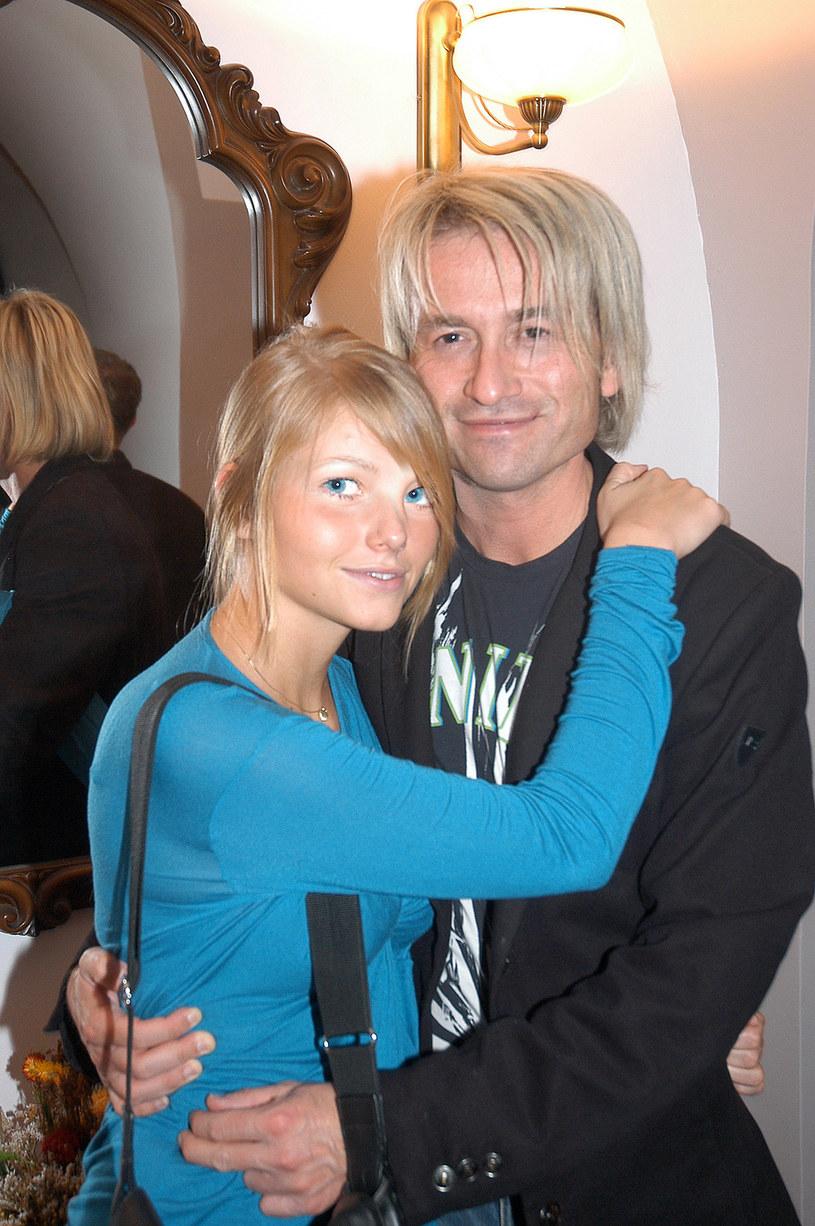 Piotr Rubik z żoną Agatą, 2006 rok /Kurnikowski /AKPA