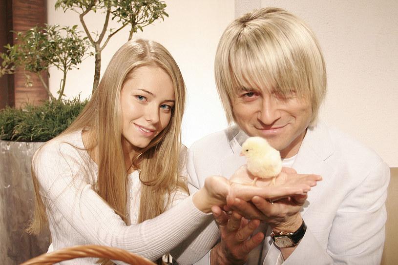 Piotr Rubik z żona Agatą w 2007 roku /Wojtalewicz Jarosław /AKPA