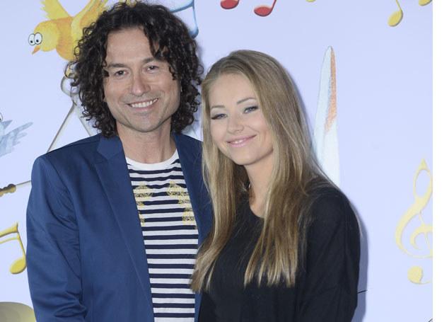 Piotr Rubik z żoną Agatą /MWMedia