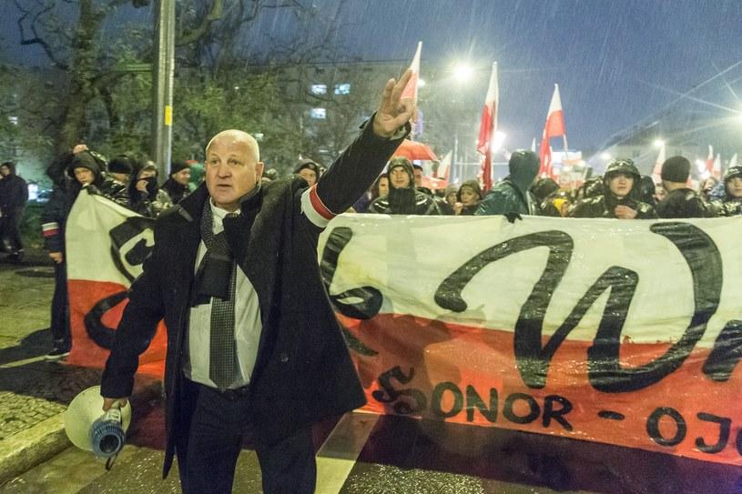 Piotr Rybak na Marszu Patriotów we Wroclawiu /Krzysztof Kaniewski/REPORTER /East News