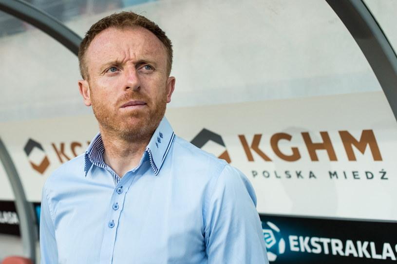 Piotr Stokowiec jest trenerem Zagłębia od maja 2014 roku /Maciej Kulczyński /PAP
