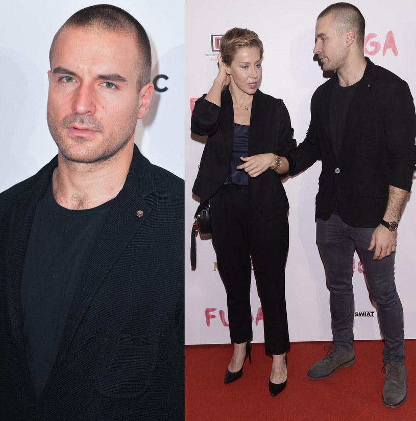 "Piotr Stramowski i Kasia Warnke na premierze filmu ""Fuga"", fot. Reporter/Artur Zawadzki /East News"