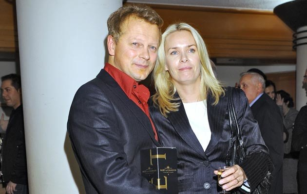 Piotr Szwedes z żoną, fot. Andras Szilagyi  /MWMedia