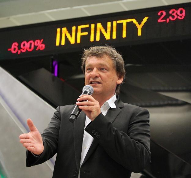 Piotr Tymochowicz podczas debiutu spółki Infinity na NewConnect /PAP