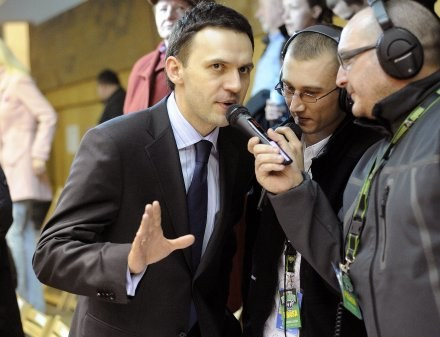 Piotr Waśniewski (z lewej). Fot. Krystyna Paczkowska. /Agencja Przegląd Sportowy