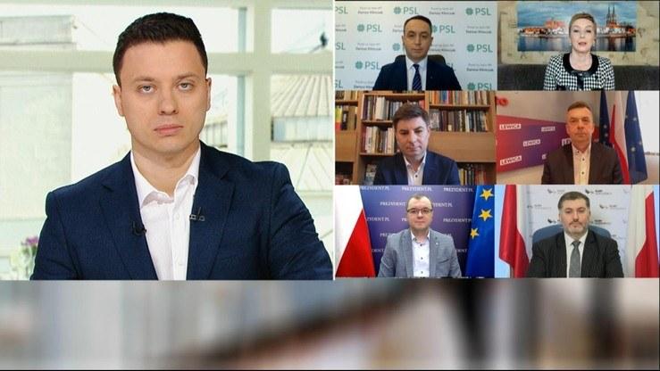 """Piotr Witwicki i jego goście w programie """"Śniadanie w Polsat News"""" /polsatnews.pl /Polsatnews.pl"""