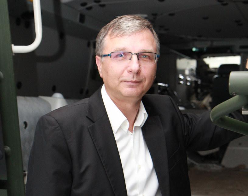 Piotr Wojciechowski, prezes WB Electronics, największej prywatnej firmy zbrojeniowej w kraju /materiały prasowe