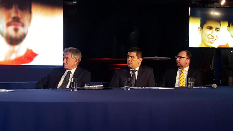 Piotr Woźniak(L) prezes PGNiG, Tymoteusz Pruchnik, prezes Fundacji im. Łukasiewicza /Bartosz Bednarz /INTERIA.PL