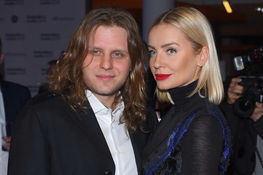 Piotr Woźniak-Starak z żoną Agnieszką /Archiwum Leszczyński /PAP