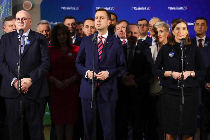 Piotr Zgorzelski, Władysław Kosiniak-Kamysz i Magdalena Sobkowiak /Rafal Gaglewski /Reporter