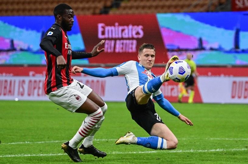Piotr Zieliński podczas meczu Napoli z Milanem /MIGUEL MEDINA /AFP