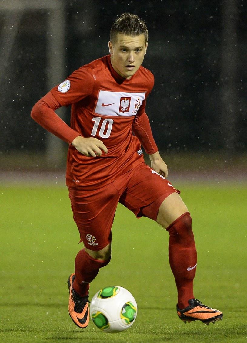 Piotr Zieliński w meczu z San Marino /AFP