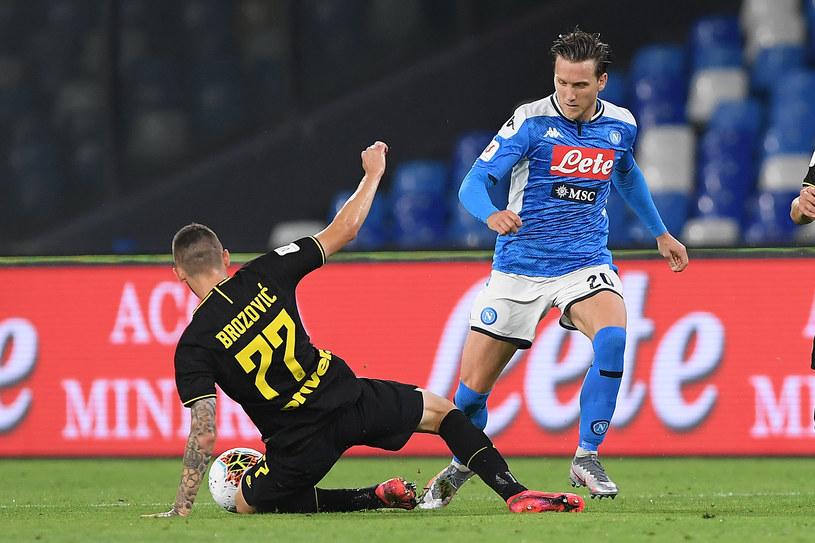 Piotr Zieliński w trakcie meczu z Interem /Francesco Pecoraro /Getty Images