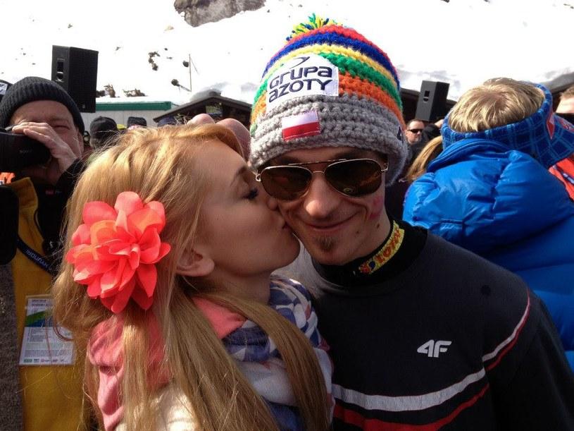 Piotr Żyła i jego żona Justyna. /INTERIA.PL