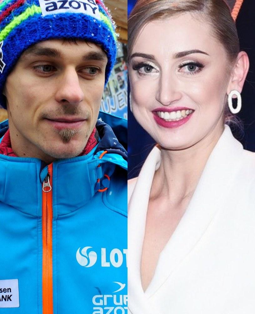 Piotr Żyła i Justyna Żyła /ForumGwiazd.com.pl   /Agencja FORUM