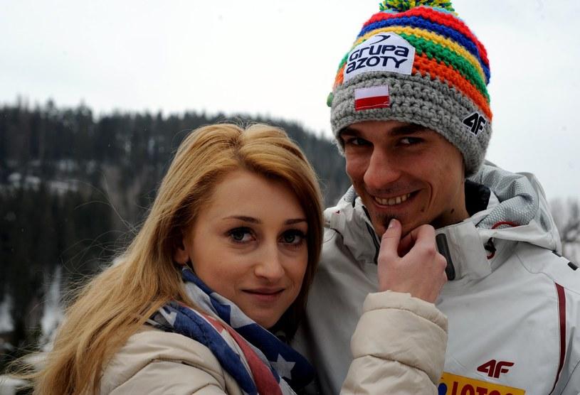 Piotr Żyła, Justyna Żyła /Maciej Gillert /East News