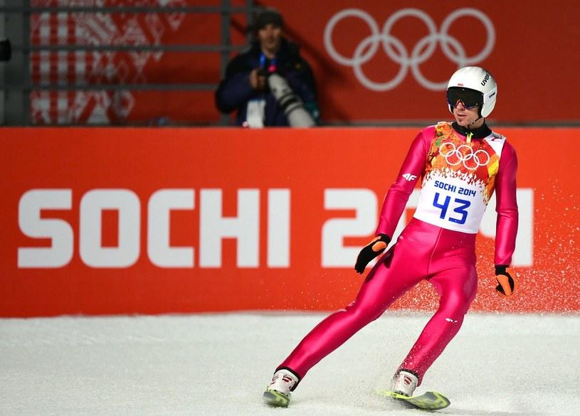 Piotr Żyła podczas igrzysk olimpijskich w Soczi /AFP